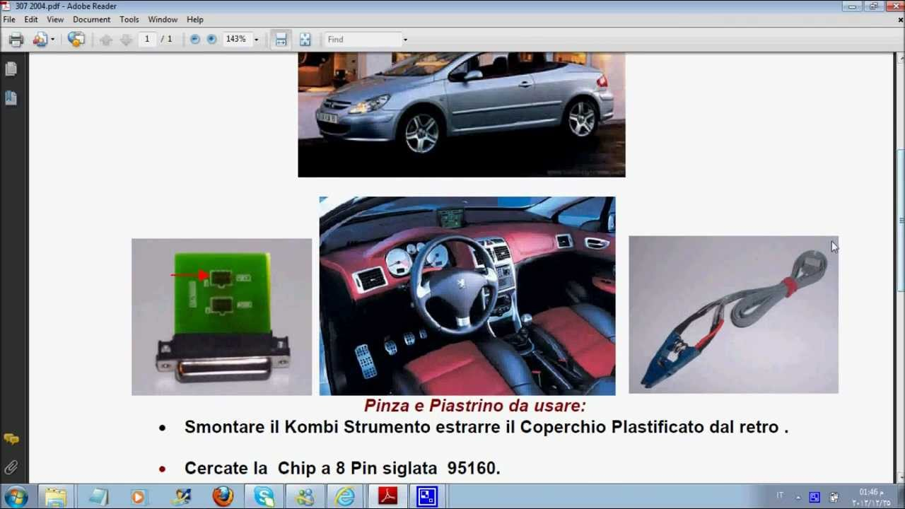tacho pro 2008 peugeot 307 2004 youtube. Black Bedroom Furniture Sets. Home Design Ideas