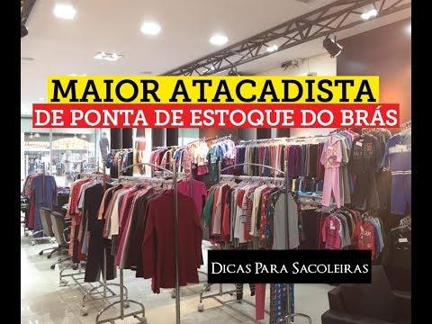 222cfca3d Maior Atacadista de Ponta de Estoque do Brás - YouTube