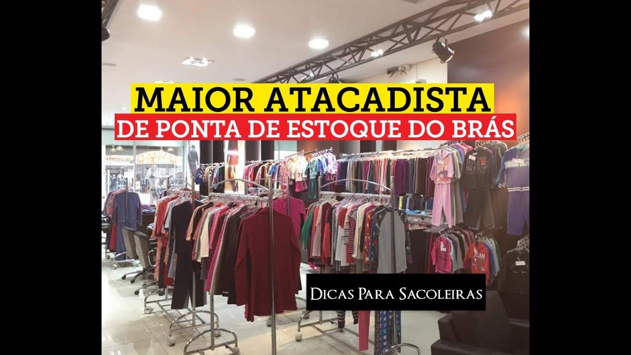 2e64e7af8 Maior Atacadista de Ponta de Estoque do Brás - YouTube