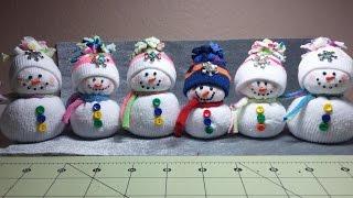 DIY~Adorable Dollar Tree Toddler Sock Snowmen or Snow babies! No Sew!