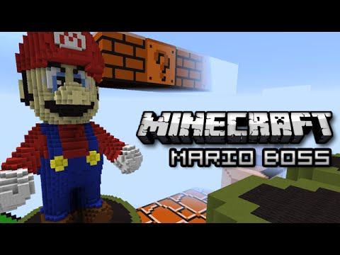 Minecraft: MARIO BOSS BATTLE - Mini Game