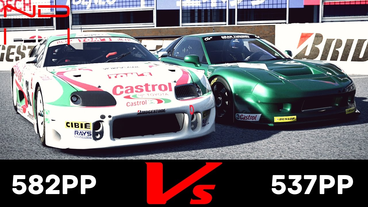 Gt6 Acura Nsx Lm Race Car 91 Vs Toyota Castrol Tom S