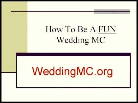 how to be a fun wedding mc youtube