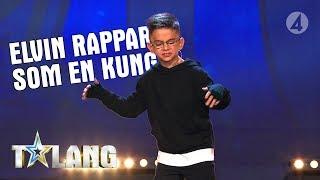 8-åriga Elvin är kung när han levererar sin rap