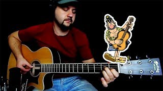 Приключения Капитана Врунгеля (мелодия на гитаре) + ТАБЫ/НОТЫ | Navigator Studio