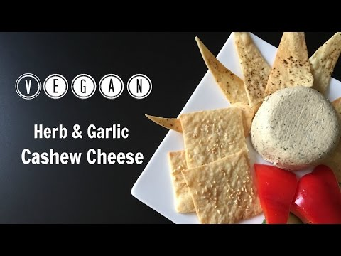 Herb And Garlic Cashew Cheese // Vegan // Gluten Free
