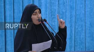 Iran: Soleimani's daughter warns the US of retaliation at funeral speech