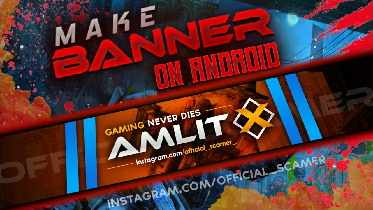 How to make banner | Make channel art on Android | in [HINDI]