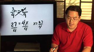 Fractions & Proportions : H๐w to Cross Multiply Proportions