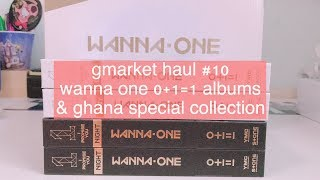 G Market Haul #10 + PHOTOCARD REVEAL   wanna one 워너원 0+1=1 albums & ghana special collection