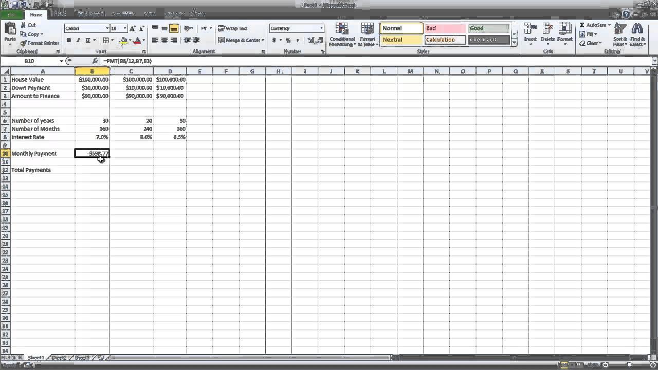 multiple loan payment calculator