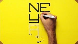 Drawing Neymar Logo - How to Draw
