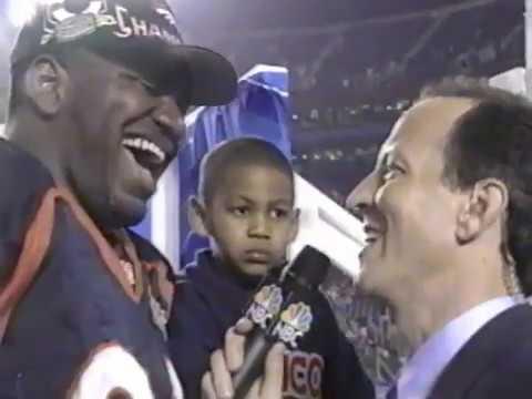 Super Bowl XXXII postgame - Denver beats Green Bay