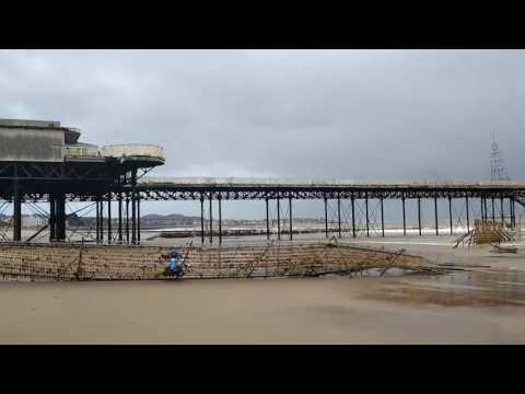 Colwyn Bay Pier Collapse Seaward end