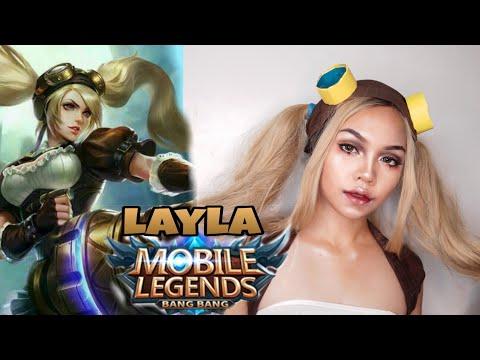 Layla Of Mobile Legends Makeuptransfornation Mobile Legends