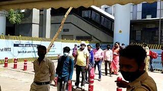 Delhi: Covid-19 test drive at Anand Vihar metro station