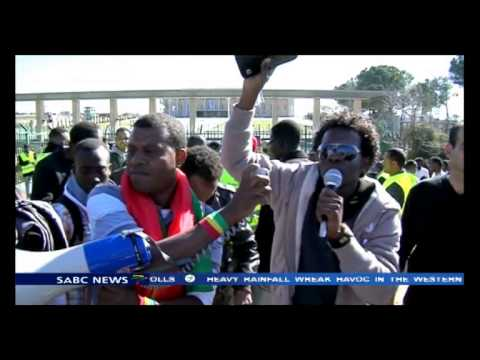 African migrants staged a protest outside Israel parliament