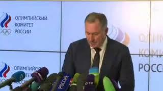 Пресс-подход президента Российского Олимпийского комитета Позднякова