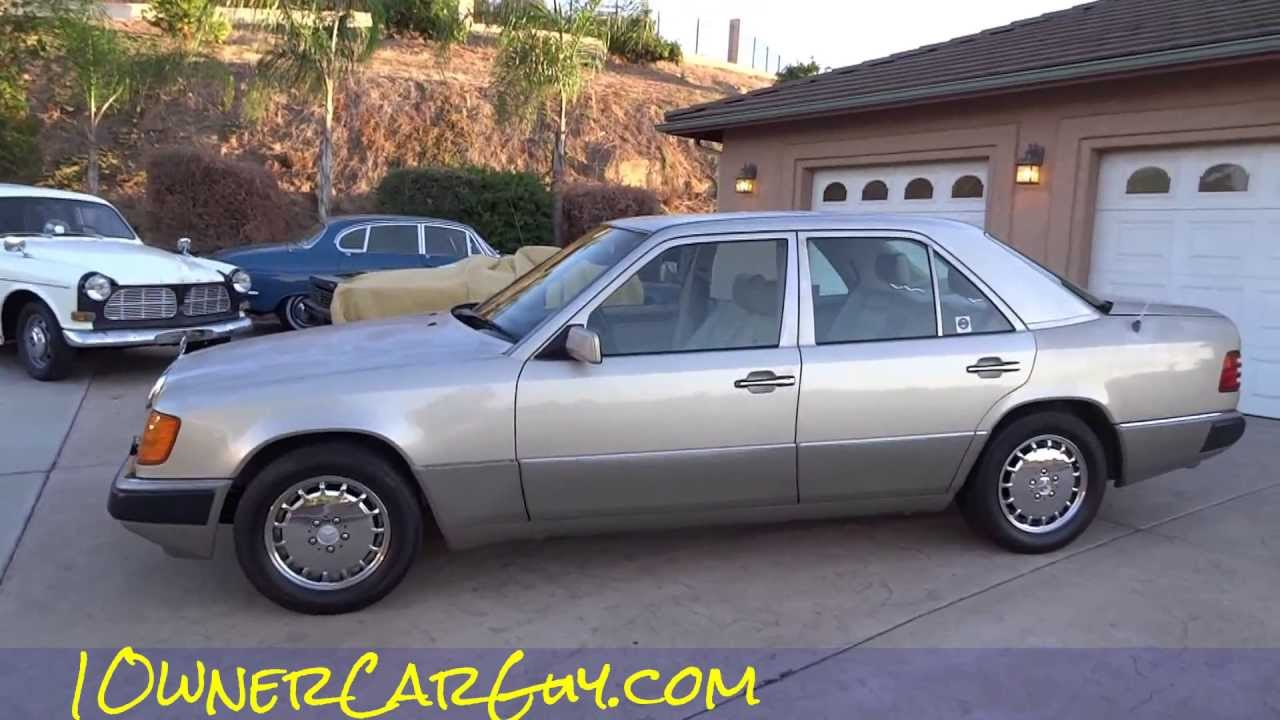 Mercedes benz 300e w124 interior review start up video for 1992 mercedes benz 300e