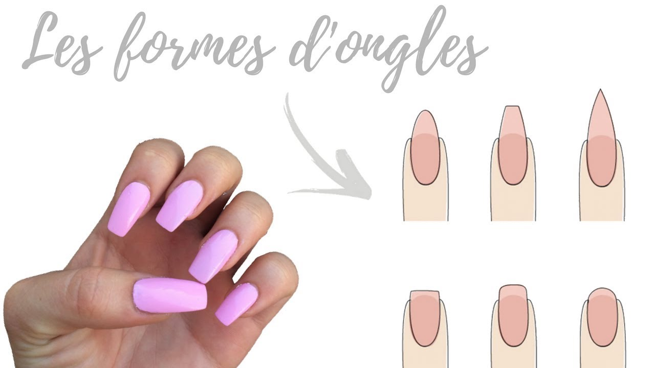 Les formes d 39 ongles sur capsules faux ongles shantiglam youtube - Forme des ongles ...