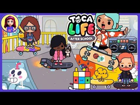 Toca Life: After School Skateboard Dance Paint Graffiti Sport App Gameplay Kids Toys