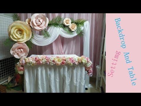 Paper Flower Backdrop / table runner / wedding backdrop