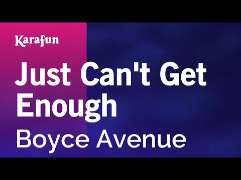 Karaoke Just Can't Get Enough - Boyce Avenue *
