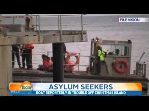 Refugees in trouble off the coast of Christmas Island