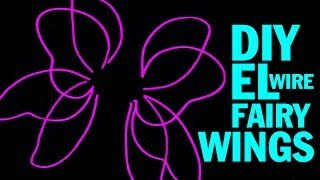 DIY EL Wire Fairy Wings and Wing Structure Tutorial