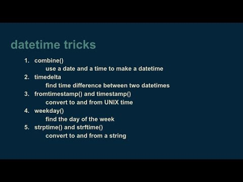 How to use python's datetime package