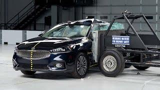 2017 Kia Cadenza side IIHS crash test
