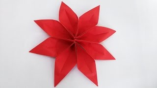 Origami 8 Petal Clematis Flower (2 unit) step by step