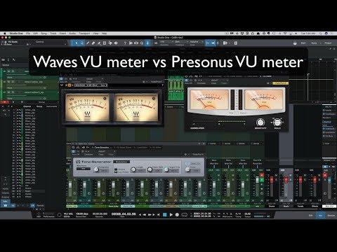 Waves Vu Meter Vs Presonus Vu Meter Youtube
