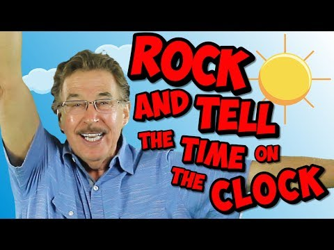 Rock and Tell the Time on the Clock | Analog & Digital Clock Song for Kids | Jack Hartmann