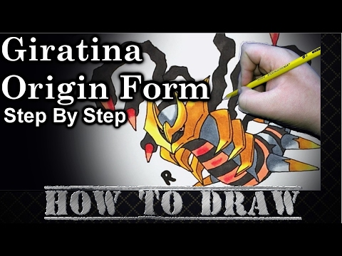 How To Draw Giratina Origin Form Step By Step - YouTube