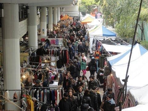 Walking the whole entire mile long length of Portobello Road & Golborne Road Saturday Street Market.