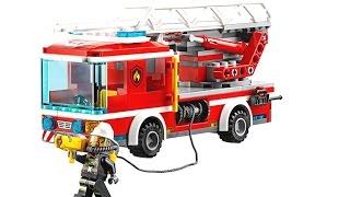 Пожарная Машина 60107 Лего Сити .Сборка Лего.Лего Сити пожарная команда.Видео для мальчиков.