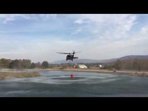 Blackhawk putting out Tennessee wildfire