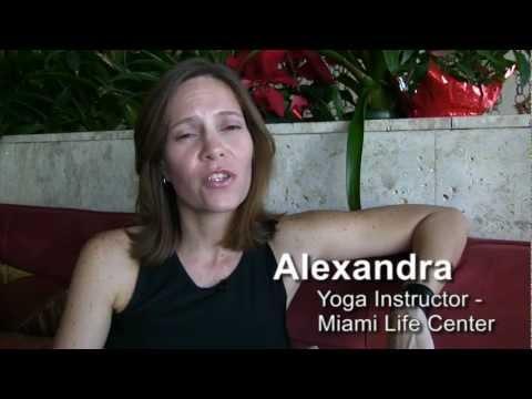 Ashtanga Yoga Miami Beach - Teacher Alexandra Santos at Miami Life Center