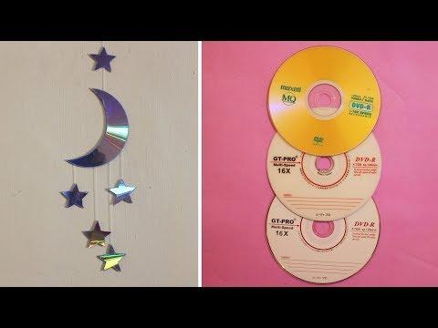 Kerajinan Tangan Dari Bahan Kaset CD/DVD Bekas