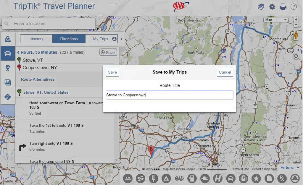 Using AAA TripTik Travel Planner Create and Save Routes YouTube – Aaa Travel Maps And Directions