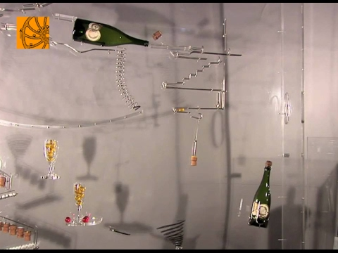 Champagne kinetic Sculpture