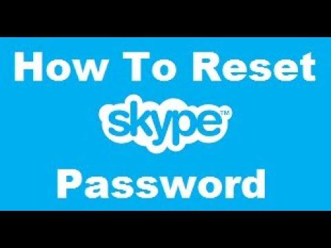 How To Reset skype Password