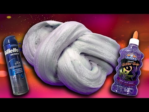 How to make fluffy slime with gel shaving cream and glitter no how to make fluffy slime with gel shaving cream and glitter no borax diy slime recipe ccuart Images
