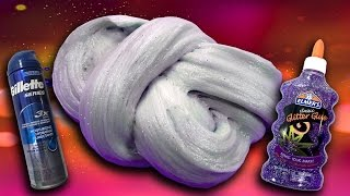 How to make Fluffy Slime with Gel Shaving Cream and Glitter! No Borax  DIY Slime Recipe