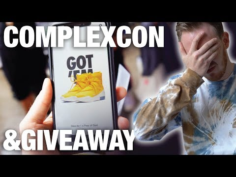 Buying Hyped Sneakers at COMPLEXCON & Nike Air FEAR of GOD 1 GIVEAWAY