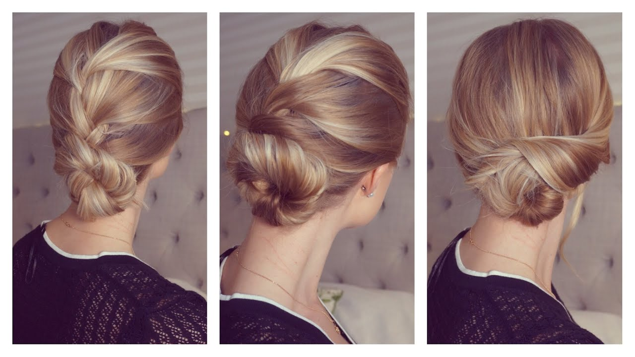 3 easy and fast updos only using bobby pins