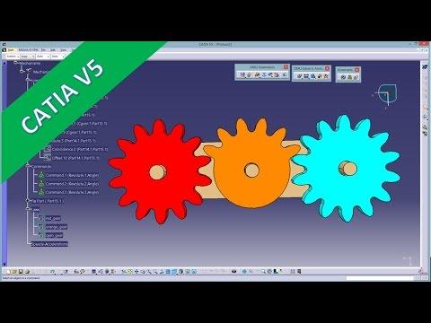 Mechanism/Simulation with laws - Catia v5 Training - Kinematik