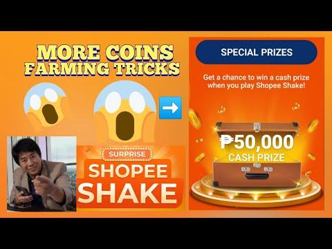 how-to-get-more-coins-on-shopee-shake- -latest-2020- -farming-tricks-50,000-pesos