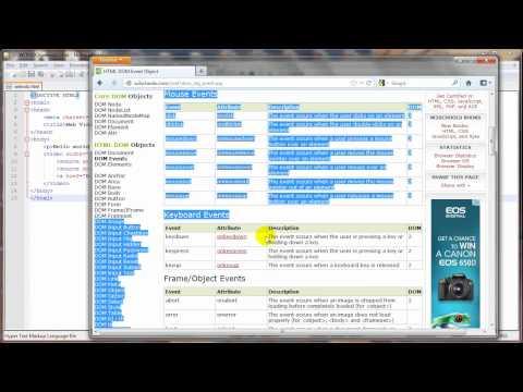 สอน HTML5 - 7 - HTML Element และ HTML DOM